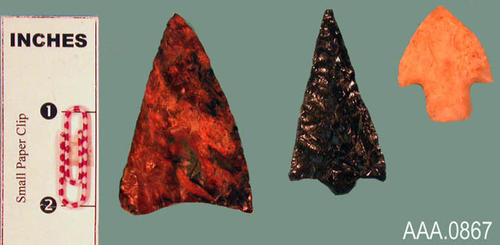 This artifact collection consists of three, Columbia River arrow points.  Their age is unknown.