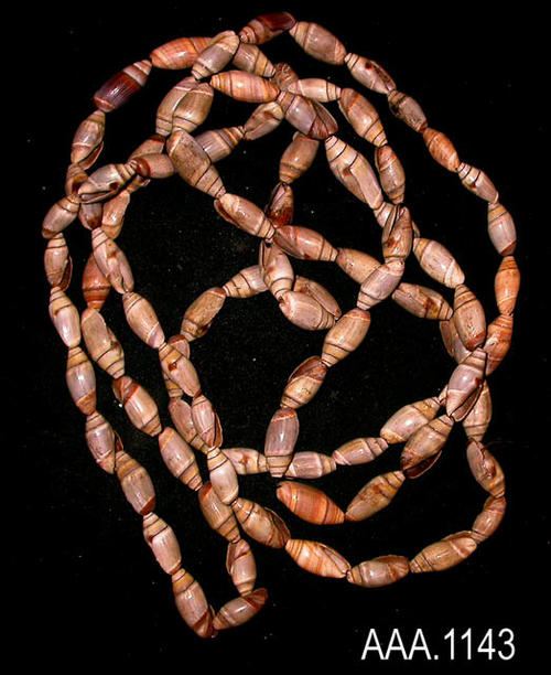 This artifact is a string of Modoc Shell Beads.  Their age and source is unknown.