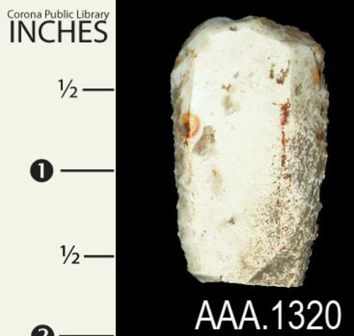 "This artifact is a Native American stone tool.  It measures 1 5/8"" (L), 1"" (W), and 3/8"" (Thickness)."