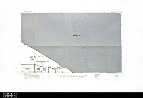"This map covers Block No. 521SW - Indio, Coachella Valley Div.   - MEASUREMENTS:  22"" x 34"" - CONDITION:  Very Good - COPIES:  1."