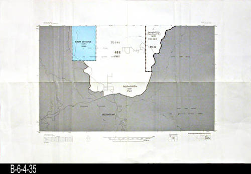 "This map covers Block No.526NW - Palm Springs, Idyllwild Div., Cathedral City - Palm Desert  Div. - MEASUREMENTS:  22"" x 34"" - CONDITION:  Very Good - COPIES:  1."