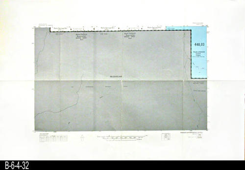 "This map covers Block No. 523SE - Palm Springs, Palm Springs Div., Agua Caliente Reservation - MEASUREMENTS:  22"" x 34"" - CONDITION:  Very Good - COPIES:  1."