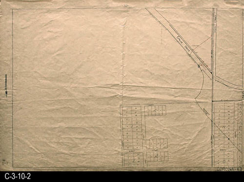 "The intersection of Chase Dr. and State Street is shown.  The residential streets shown are:  Nelson, Bobbit St., Howe St. Liberty, and Winton St. MEASUREMENTS:  24"" X 34.75"" - CONDITION:  This oil skin map is very legible, but does show wear and tear.  COPIES:  1 - MAP ORIENTATION:  Top is NORTH.  2007 Approximate Thomas Guide Reference:  p. 773, G5, G6. -  1985, p. 26 F5, F6 - 1955 Renie Atlas, p. 104/107, B4, B5."