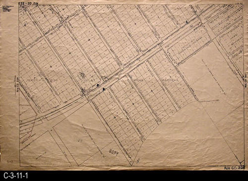 "Two cross streets that can be located in the 2007 Thomas Guide are:  Neece St. and Estelle St.   - MEASUREMENTS:  24.5"" X 36"" - CONDITION:  This oil skin map is very legible, but does show wear and tear.  COPIES:  1 - MAP ORIENTATION:  Top is NORTH.  2007 Approximate Thomas Guide Reference:  p. 743, H5, J5."
