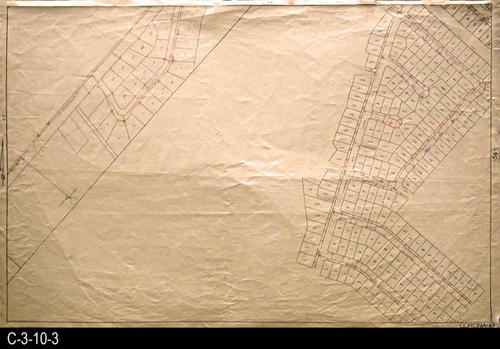 "The intersection of Chase Dr. and State Street is shown.  The residential streets shown are:  Nelson, Bobbit St., Howe St. Liberty, and Winton St. MEASUREMENTS:  23.75"" X 35.5"" - CONDITION:  This oil skin map is very legible, but does show wear and tear.  COPIES:  1 -  - MAP ORIENTATION:  Top is NORTH.  2007 Approximate Thomas Guide Reference:  p. 742, J6, J7 - TG 1985, p. 25 D1, F1 and p. 26. A1- 1955 Renie Atlas, Area not mapped."