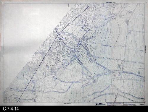 "This map is available for viewing at the library; however, map images are restricted.  DO FIRST:  Start with the INDEX and VICINITY MAP (C-7-4-1). It  will show which map in the collection has the information for each specific area in the collection. T-200-6 is a topographical map with a scale of 1"" equals 200'. It corresponds to SHEET 6 on the INDEX and VICINITY MAP. MEASUREMENTS:  30"" X 41 3/4"" - CONDITION:  All maps are in very good condition.  They do reflect regular wear and tear.  Some maps are beginning to develop a brown tone on the right edge area.  COPIES:  1 SET. - MAP ORIENTATION:  The Right side of the map is NORTH on all full page maps and aerial views."