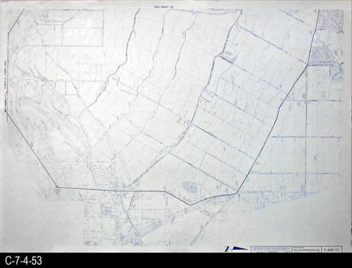 "This map is available for viewing at the library; however, map images are restricted.  DO FIRST:  Start with the INDEX and VICINITY MAP (C-7-4-1). It  will show which map in the collection has the information for each specific area in the collection. T-400-11 is a topographical map with a scale of 1"" equals 400'. It corresponds to SHEET 11 on the INDEX and VICINITY MAP. MEASUREMENTS:  30"" X 41 3/4"" - CONDITION:  All maps are in very good condition.  They do reflect regular wear and tear.  Some maps are beginning to develop a brown tone on the right edge area.  COPIES:  1 SET. - MAP ORIENTATION:  The Right side of the map is NORTH on all full page maps and aerial views."