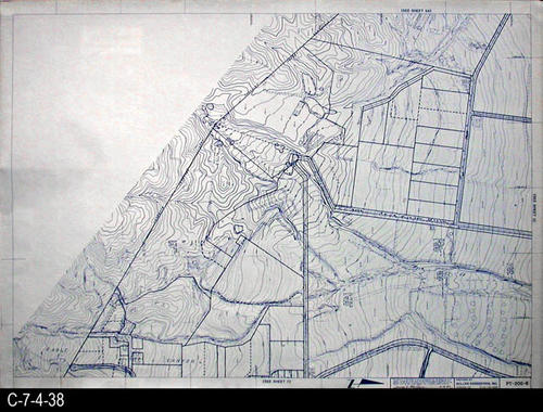 "This map is available for viewing at the library; however, map images are restricted.  DO FIRST:  Start with the INDEX and VICINITY MAP (C-7-4-1). It  will show which map in the collection has the information for each specific area in the collection. PT-200-6 is a map with a scale of 1"" equals 200' and shows property lines superimposed on a topographical map. It corresponds to SHEET 6 on the INDEX and VICINITY MAP. MEASUREMENTS:  30"" X 41 3/4"" - CONDITION:  All maps are in very good condition.  They do reflect regular wear and tear.  Some maps are beginning to develop a brown tone on the right edge area.  COPIES:  1 SET. - MAP ORIENTATION:  The Right side of the map is NORTH on all full page maps and aerial views."