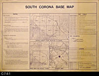 Map - 1987 - South Corona  Base Map - Index and Vicinity Map