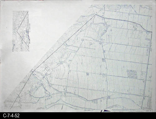 "This map is available for viewing at the library; however, map images are restricted.  DO FIRST:  Start with the INDEX and VICINITY MAP (C-7-4-1). It  will show which map in the collection has the information for each specific area in the collection. T-400-10 is a topographical map with a scale of 1"" equals 400'. It corresponds to SHEET 10 on the INDEX and VICINITY MAP. MEASUREMENTS:  30"" X 41 3/4"" - CONDITION:  All maps are in very good condition.  They do reflect regular wear and tear.  Some maps are beginning to develop a brown tone on the right edge area.  COPIES:  1 SET. - MAP ORIENTATION:  The Right side of the map is NORTH on all full page maps and aerial views."