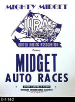 Poster - Midget Auto Racing