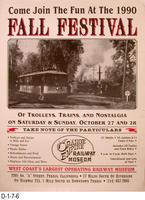 Poster - 1990 Fall Festival Orange Empire Railway Museum