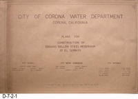 Blueprint - 1964 - 500,000 Gallon El Cerrito Reservoir - Cover Page