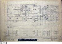 Blueprint - 1962 - Corona Police Facility - Page A-4:  Floor Plan Details