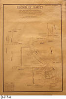 Blueprint - 1974 - Record of Survey - Corona Downtown Redevelopment Project...