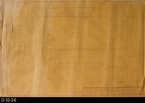 "This blueprint is for Phase 1, Change Order 1, Pedestrian Walkways and Parking Facilities Southerly of 6th St. and Easterly of Corona Mall.  MEASUREMENTS:  36"" X 24"" - CONDITION: Water damage left side a top right hand corner.  Bottom margin has several small tears. Blueprint fully legible. COPIES:  1 - MAP ORIENTATION:  Top is NORTH."