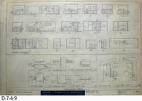 Blueprint - 1962 - Corona Police Facility - Page A-8:  Interior Elevations and...