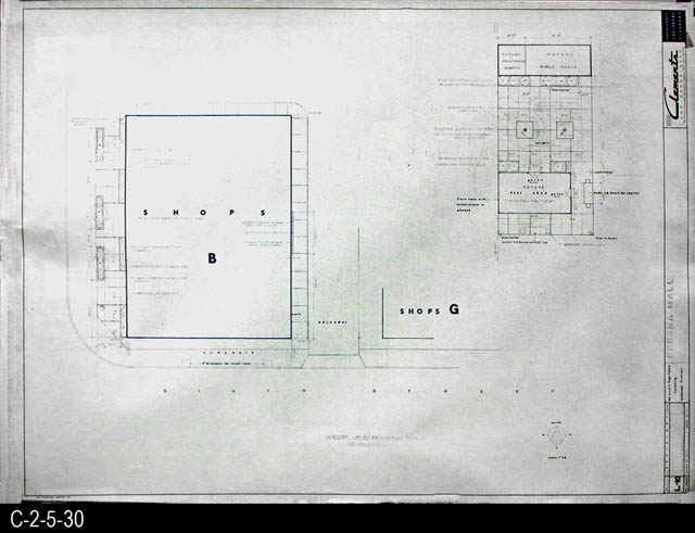 Blueprint 1969 corona mall redevelopment project landscape blueprint 1969 corona mall redevelopment project landscape layout planting plan section no 4 l10 malvernweather Image collections