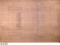 Blueprint - 1978 Corona Library Heritage Room - East and West Elevations