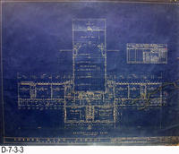 Blueprint - 1922 - Corona High School - Second Floor Plan