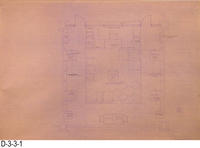 Blueprint - 1978 Corona Library Heritage Room - Floor Plan