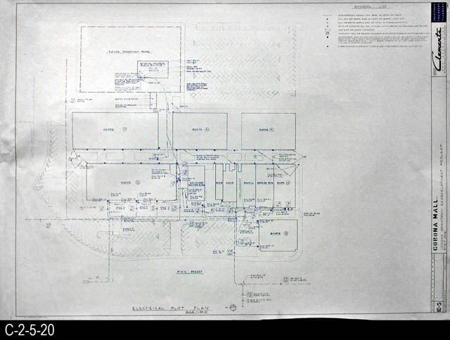 Blueprint 1969 corona mall redevelopment project electrical blueprint 1969 corona mall redevelopment project electrical plot plan e5 malvernweather Image collections