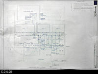 Blueprint - 1969 - Corona Mall - Redevelopment Project - Electrical Plot Plan...
