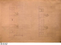 Blueprint - 1978 Corona Library Heritage Room - Section End - North Elevation...