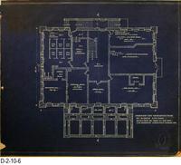 Blueprint - 1912 - Corona City Hall - Leo Kroonen - Second Floor Plan