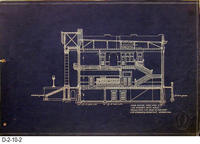 Blueprint - 1912 - Corona City Hall - Leo Kroonen - Cross Section Over Line...