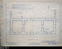 Blueprint - Cota House - Historic American Buildings Survey - Floor Plan