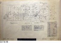 Blueprint - 1962 - Corona Police Facility - Page E2: - Lignting Plan - Panel...