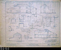 Blueprint - Cota House - Historic American Buildings Survey - Elevations and...