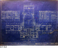 Blueprint - 1922 - Corona High School - First Floor Plan
