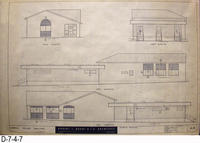 Blueprint - 1962 - Corona Police Facility - Page A-6:  Exterior Elevations