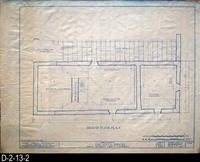 Blueprint - Cota House - Historic American Buildings Survey - Second Floor Plan...