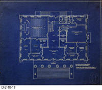Blueprint - 1912 - Corona City Hall - Leo Kroonen - Revised First Floor Plan...