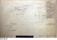 Blueprint - 1962 - Corona Police Facility - Page E1: - Electrical Plot Plan...
