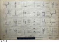 Blueprint - 1962 - Corona Police Facility - Page A-7:  Door and Glass Block...