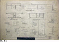 Blueprint - 1962 - Corona Police Facility - Page A-5:  Sections Details