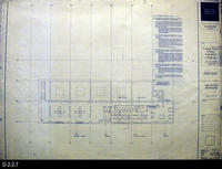 Blueprint - Corona Public Library -  D-2-2-7, Mezzanine Bookstacks  - 9-25-1992...