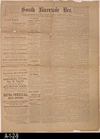 Newspaper - 1889 - South Riverside Bee - Area news and classified ads  - Vol....