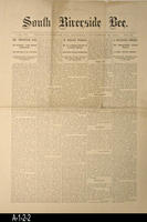 Newspaper - 1893 - South Riverside Bee - Area News and Classified Ads - Vol....