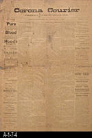 Newspaper - 1897 - The Corona Courier - California, Los Angeles, Orange, Riverside,...