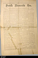 Newspaper - 1891 - South Riverside Bee - Area news and classified ads  - Vol....