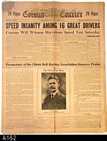 Newspaper - 1916 - Corona Courier - Corona Car Racing