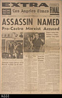 Newspaper - 1963 - Los Angeles Times - Assassination of President John F. Kennedy...