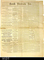 Newspaper - 1889 - South Riverside Bee - Southern California and Area news with...