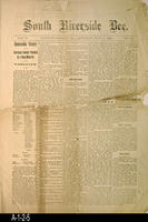 Newspaper - 1892 - South Riverside Bee - International, National and Area News...