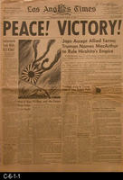 Newspaper - 1945 - Los Angeles Times - End WWII